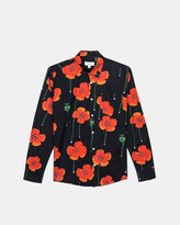 Soulland Butter Silk Blazer (Flower Print)