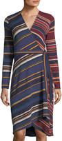 BCBGMAXAZRIA Asymmetric Wrap Dress