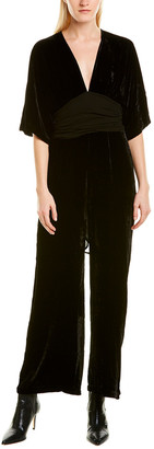 Young Fabulous & Broke Velvet Silk-Blend Jumpsuit