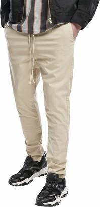 Urban Classics Men's Tapered Cotton Jogger Pants Slacks