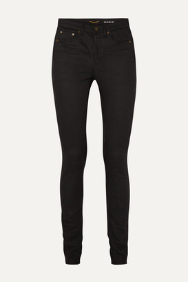 Saint Laurent High-rise Skinny Jeans - Black