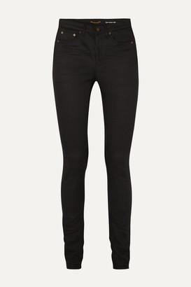 Saint Laurent High-rise Skinny Jeans - Black
