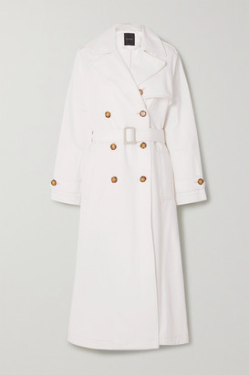 Gold Sign Net Sustain The Classic Organic Denim Trench Coat - White