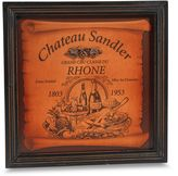 Bed Bath & Beyond Rhone Wine Label Plaque