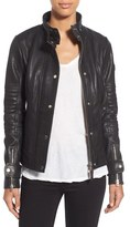 Rudsak Women's Pebbled Leather Biker Jacket