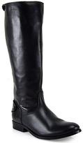 Frye Melissa - Flap Snap Tall Black Leather Boot