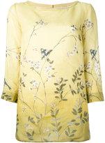 'S Max Mara - floral print tunic blouse - women - Ramie - 46