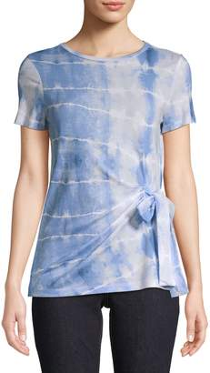 Lord & Taylor Printed Cotton Blend Tee