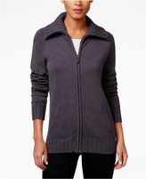 Karen Scott Zip-Front Cardigan, Only at Macy's