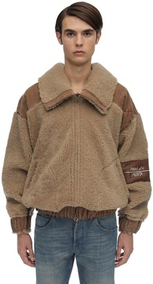 Handle With Freedom Reversible Shearling Bomber Jacket
