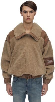 Reversible Shearling Bomber Jacket