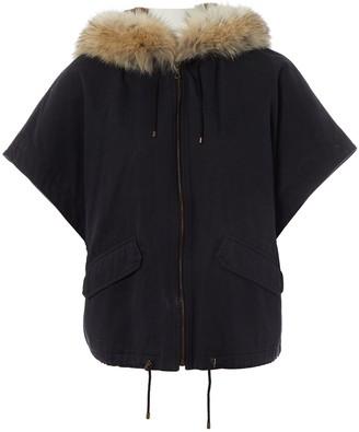 Yves Salomon Black Fur Coats
