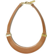 Vince Camuto Leather Collar Necklace Tan
