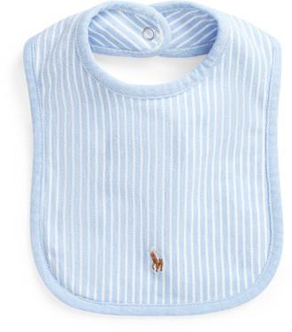 Ralph Lauren Striped Cotton Mesh Bib
