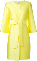 P.A.R.O.S.H. collarless midi coat - women - Silk/Polyester - XL