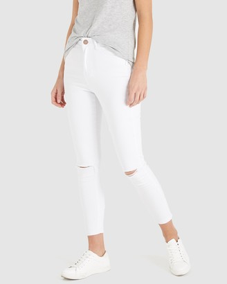 Cotton On High-Rise Cropped Skinny Jeans
