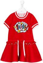 Fendi embellished exploding logo dress - kids - Modal - 4 yrs