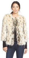 Kristen Blake Women's Spotted Faux Fur Jacket