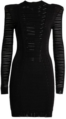 Balmain Transparent Stripe Dress