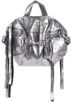 McQ Metallic leather shoulder bag