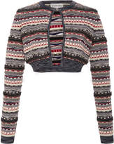 Carven Cropped Cotton-Blend Cardigan