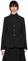 Comme des Garcons Black Button-Up Jacket