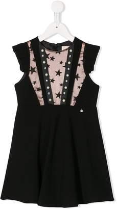 Elisabetta Franchi La Mia Bambina embellished cap sleeve dress