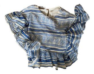 Philosophy di Lorenzo Serafini Blue Silk Tops
