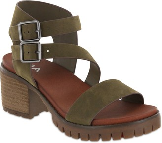 Mia Lug Bottom Heel Sandals - Leyna