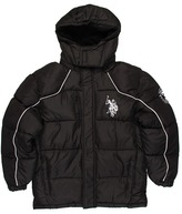 U.S. Polo Assn. Kids - Fleece w/ Ripstop Shell and Oxford Trim (Big Kids (Jet Black/Jet Black) - Apparel