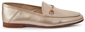 Sam Edelman Loraine Horsebit Metallic Leather Loafers