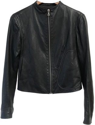 The Row Black Leather Jacket for Women
