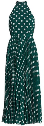 Zimmermann Sunray Polka Dot Picnic A-Line Midi Dress
