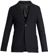 Giorgio Armani Honeycomb-mesh Patch-pocket Blazer
