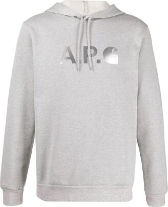 A.P.C. x Carhartt logo hoodie