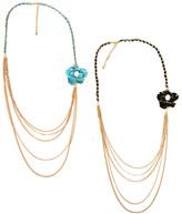 Ravin Gems Chain & Flower Necklace