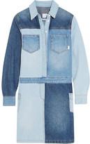 SteveJ & YoniP Steve J & Yoni P - Patchwork Denim Shirt Dress - Mid denim