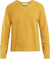 Marni V-neck alpaca-blend long-sleeve sweater