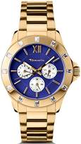Tamaris Women's Quartz Watch with Blue Dial Analogue Display and Gold Stainless Steel Bracelet