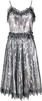 Marco De Vincenzo metallic pleated dress