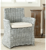 Safavieh Rural Woven Dining St Thomas Indoor Wicker Washed-out Grey Arm Chair
