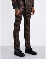 Alexander McQueen Paisley-patterned regular-fit wool and silk-blend trousers
