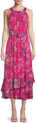 Calvin Klein Floral-Print Halter Dress