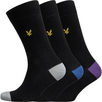 Lyle And Scott Vintage Mens Kennedy Three Pack Socks Black