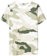Nike Sportswear All Over Print Camo Futura Tee (Big Kids) (White/Light Bone/Jade Horizon) Boy's T Shirt