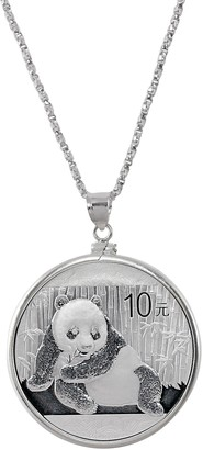 American Coin Treasures Sterling Silver Panda Coin Necklace