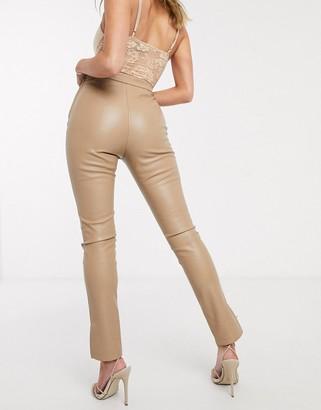 Ivyrevel pu skinny pant in beige