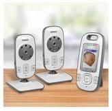 Vtech Safe&Sound®; VM312-2 2 Camera Video & Audio Baby Monitor with Autom...