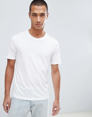 Selected 'The Perfect Tee' pima cotton t-shirt in white