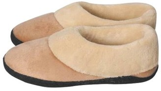 Stay Warm Apparel Memory Foam Heated Slipper With Rechargeable Battery - L/XL - Tan